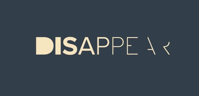 Disappear Logotype logos