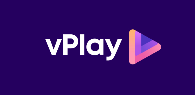 vPlay Logo Design