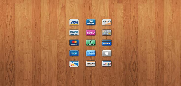 15 Credit Debit Card Icons