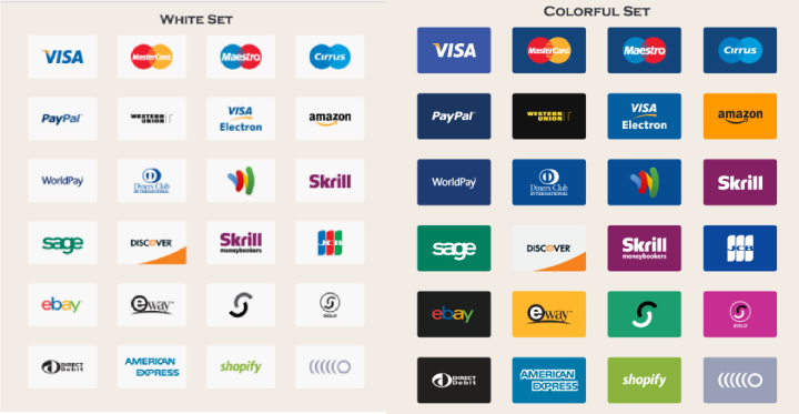 Download 24 Payment Method Vector Icons