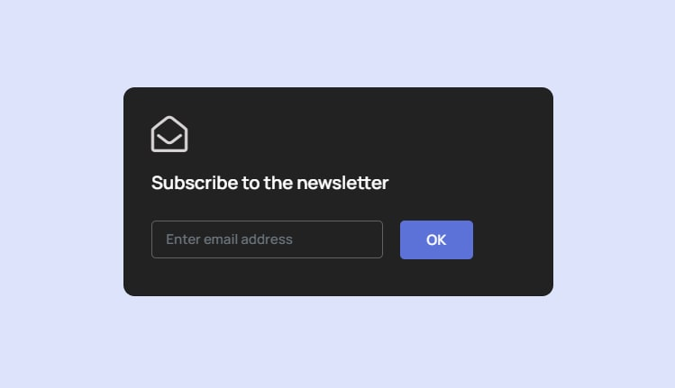 Bootstrap 4 Simple subscribe form