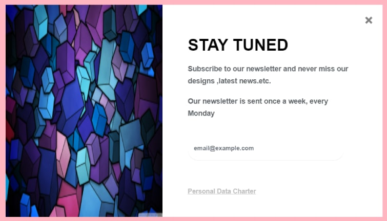 Bootstrap 4 Subscribe to our newsletter modal form
